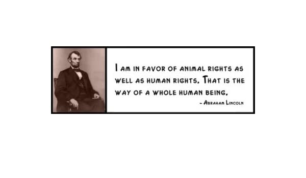 Wall Quote ABRAHAM LINCOLN I Am in Favor of Animal Rights As Well As Human R
