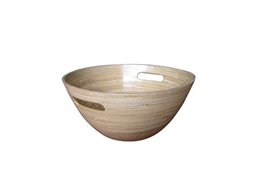 Nuru Massage Gel Mixing Bamboo Wood Bowl 10 Inches ()