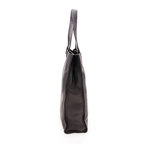 Zerimar Bolsos Mujer | Piel de alta Calidad | Bolso Señora | Bolso de Mano | Bolso Grande | Bolso Pequeño | Múltiples compartimentos | Medidas: 38x30x10 cms Negro