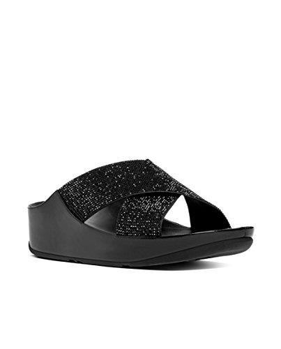 Fitflop Crystall Slide - Sandalias de Mujer EN Color Negro