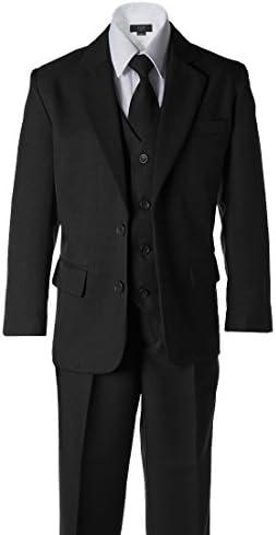 Boysダークグレー2ボタンウェディングスーツ