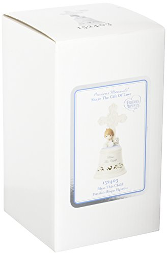 Precious Moments 152403 Bless This Child Boy Bisque Porcelain Bell