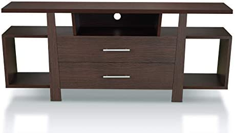 HOMES: Inside Out Raphael Modern Wood Multi Storage 59-Inch TV Stand
