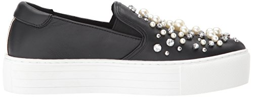 Kenneth Cole New York Womens Ashby Pearl Platform Slip Falsi Gioielli Sneaker Nero