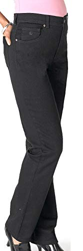 Gloria Vanderbilt Women's Amanda Classic Tapered Jean, Black, 16 (Shoes That Go With Black Skinny Jeans)