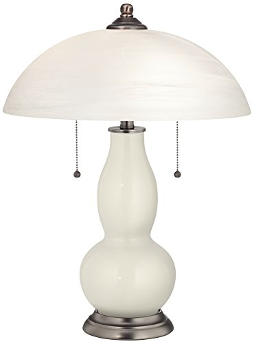 Cheap Vanilla Metallic Gourd-Shaped Table Lamp with Alabaster Shade