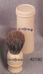 Colonel Conk Pure Badger Bristle Travel Shave Brush #2190