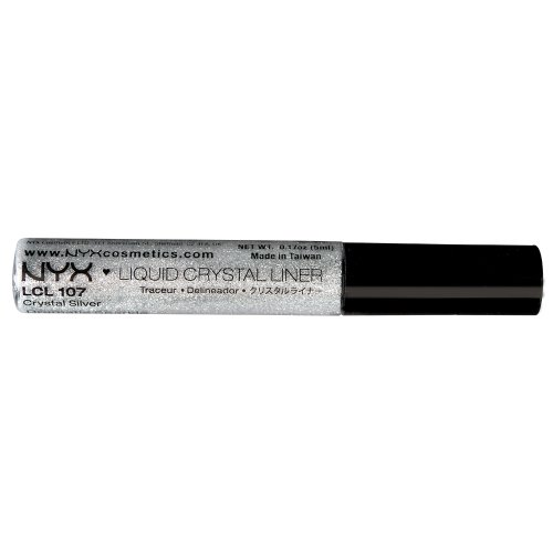 NYX Professional Makeup Liquid Crystal Liner, Crystal Silver, 0.384 Ounce