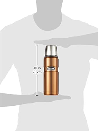 Acier Inoxydable THERMOS 4003.205.047 King Bouteille Isotherme en Acier Inoxydable 0,47 l Canneberge