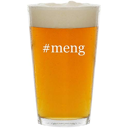 #meng - Glass Hashtag 16oz Beer Pint