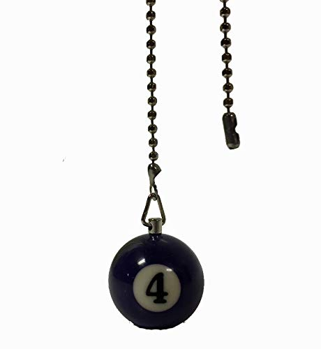 Billiard Ball Ceiling Fan Pull Chain Extender (Purple 4 - Solid)