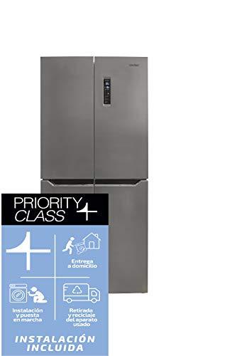 🥇 Sauber – Frigorífico Americano side by side combi SAC180 Tecnología NOFROST – Eficiencia energética: A+ – Acero inoxidable