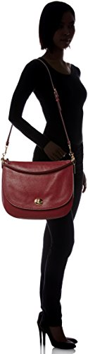 Coach TURNLOCK LEATHER HOBO BAG Burgundy