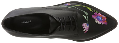 Noir Nero Paul Joe amp; Black Stringate 02 Donna Scarpe Derby Ggracy H8R61q