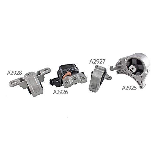 DNJ MMK1004 Complete Engine Motor & Transmission Mount kit for 2001-2007 / Dodge/Caravan, Gran Caravan / 3.3L, 3.8L