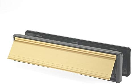 Yale YLP44-06//34-B Letterplate//Letterbox 300mm fits 38-78mm doors Gold Finish