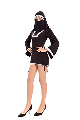 Halloween Costumes Halloween Costume Black Nun Service Sexy Middle Eastern Masked Scorpio Teach Taoist, Black, U