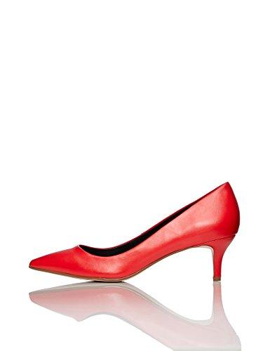à Red Red FIND Rouge Escarpins Talons Fermés Petits Femme wqvaOE