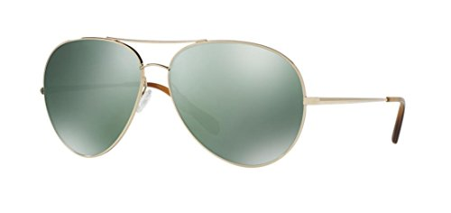 Oliver Peoples Men OV1201S 63 SAYER Gold/Green Sunglasses 63mm