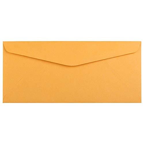 JAM PAPER #10 Business Commercial Envelopes - 4 1/8 x 9 1/2 - Brown Kraft Manila - 50/Pack ()