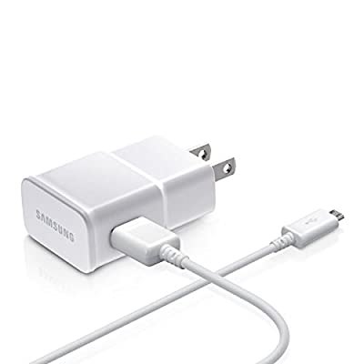 Samsung OEM 2-Amp Adapter with 5-Feet Micro USB Data Sync Charging Cables for Galaxy S2/S3/S4 Active/Note 1/2 - Non-Retail Packaging - White by Samsung IT