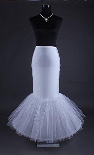 Boda de estilo LuYan para mujer color tufarada 12 enagua de y pedrería para mujer se desliza Petticoat ⑥ 1 hoop Lycra Mermaid