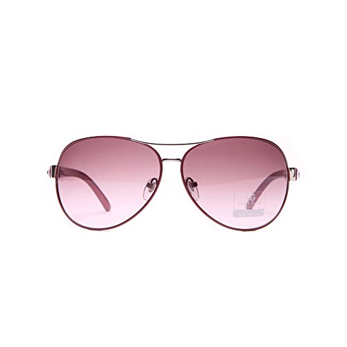 MKY Women's Classic Aviator Gradient Large Metal - Red Band Sunglasses