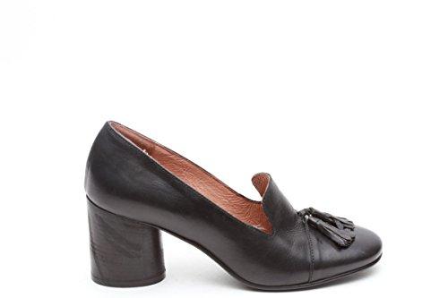 Scarpe italiane francesine donna tacco 7 nero