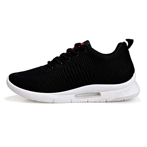 Mesh Sport Sneakers for Men, Huazi2 Breathable Leisure Breathing Athletic Comfortable Shoes Black