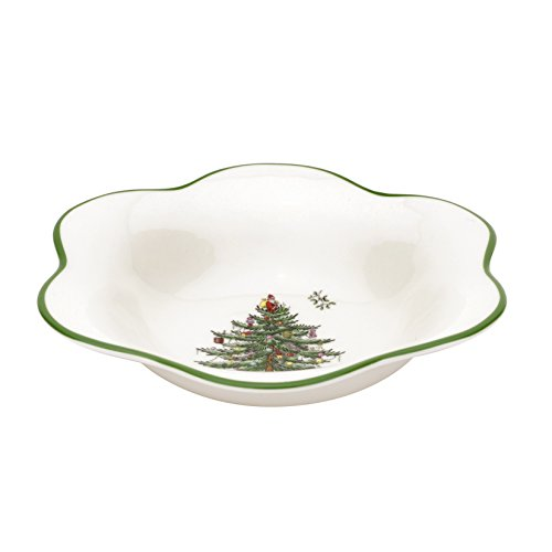 - Spode Christmas Tree Daisy Shape Bowl