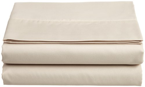 Cathay Luxury Silky Soft Polyester Single Flat Sheet, King Size, Cream