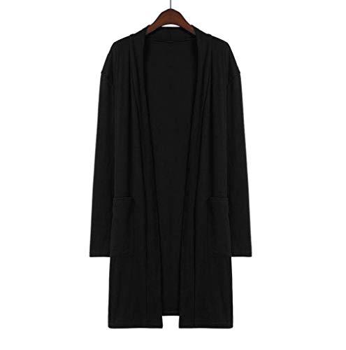Gilet Noir Pull De Respirants Soiree Lâche Automne Ouverts Femmes Veste Avant Manches Fnkdor Cardigans Chic À Longues vaZqFx