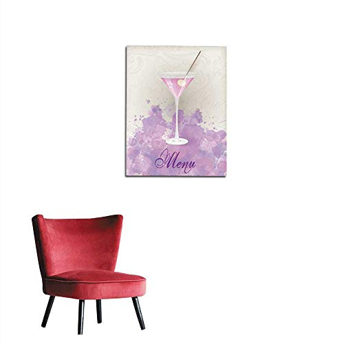 longbuyer Poster Wall Decor Martini menu on Abstract Background Mural 24
