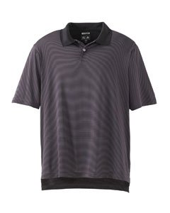 Adidas Golf A19 ClimaCool Mens Classic Stripe Jersey Polo - Flint/Black - Small Climacool Classic Stripe Polo