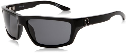 Spy Optic Kash Sport Sunglasses,Shiny Black Frame/Grey Lens,One - Spy Optic Glasses