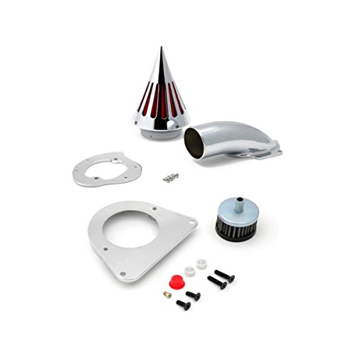 Krator Motorcycle Chrome Spike Air Cleaner Intake Filter For 1995-2004 Kawasaki Vulcan 800 Classic / VN800