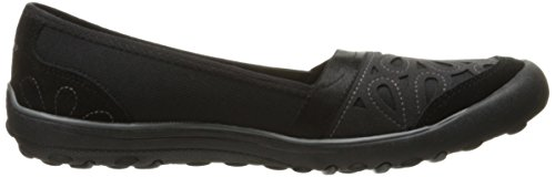 Skechers Women's Terra Festa Repurpose Flat, Black Mesh / Suede / Carbone Trim