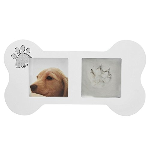 CozyCabin Pet Paw Prints Keepsake Memorial Photo Frame, Desk Photo Frame Modern Wall Hanging Frames with Clay Imprint Kit Perfect Pets Keepsake 13