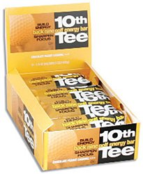 SCNS Sports Foods 10th Tee Peanut Honey Back Nine Golf Energy Bar, 1.76-Ounce Bars (Pack of 12)