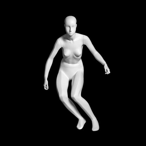 (MZ-F-SKI) ROXYDISPLAY™ Abstract Head, Glossy White, Female SKI Fullbody Mannequin by ROXYDISPLAY™ (Image #2)