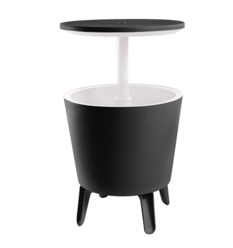 All Goodly 2-in-1 Black Cooler Bar Table Patio Cocktail Party Table (Black)