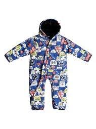 Quiksilver Snow Baby Boys' Little Rookie One Piece Suit, Black MAOAM TATT 3-6M