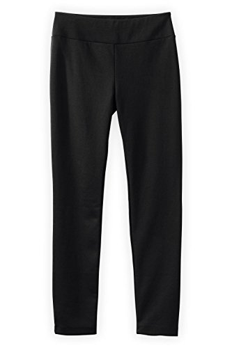Fair Indigo Fair Trade Ponte Knit Slim Leg Pants (XL, Black) ()