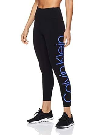 Calvin Klein Women's High Waist Full Length Leggings, Bold Blue Combo, XS