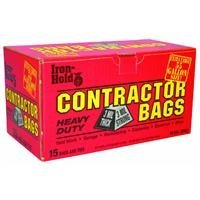 TRASH BAG CONTR55GL 15CT by IRON HOLD MfrPartNo 618939 by Berry Plastics