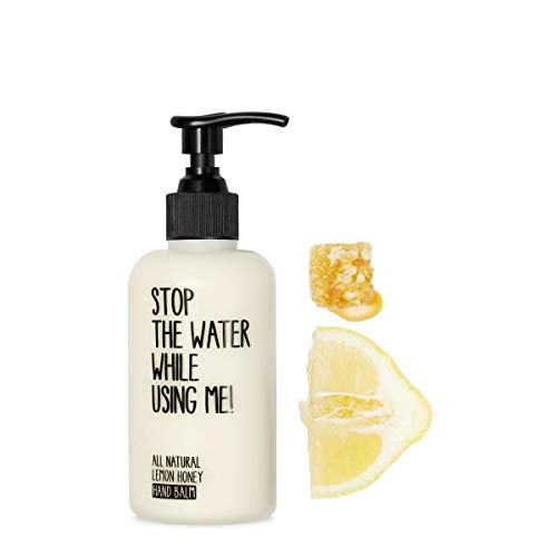 STOP THE WATER WHILE USING ME! All Natural Hand Balm Kit: Lemon + Honey Moisturizing Lotion with Organic Olive Oil and Acacia Honey (Hand Soap + Balm), Paraben & Cruelty Free, 7oz (Honey Lemon Water)