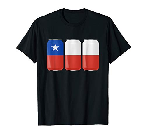 Patriotic Beer Cans Chile w/ Chilean Flag Shirt ()