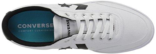 Noir Ox Converse Sneakers Mixte Courtlandt white black 102 Lifestyle Adulte black Basses HqH40axw