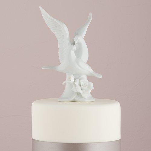 - Weddingstar Glazed Porcelain Doves and Flowers Cake Top