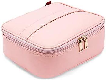 女性用化粧バッグトレインケース化粧品旅行化粧オーガナイザー化粧品用リムーバブルディバイダー化粧道具、シャイニング